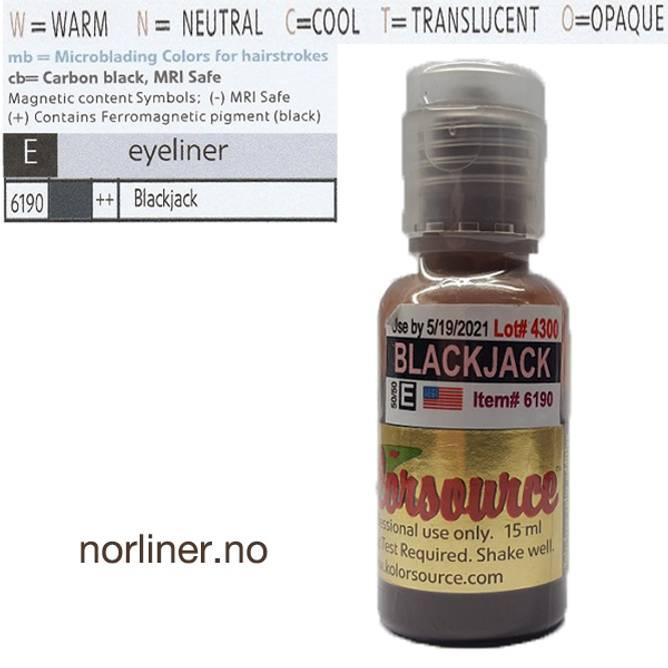 Bilde av KOLORSOURCE #6190 BlackJack til PMU Eyeliner 15ml