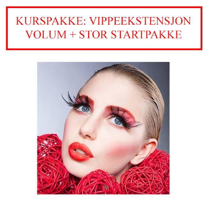 Bilde av KURSPAKKE: VIPPEEKSTENSJON VOLUM + STOR